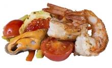 Начинка к лапше: с морепродуктами
