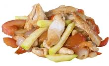 Начинка к лапше: курица с овощами