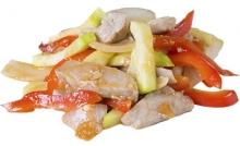 Начинка к лапше: свинина с овощами